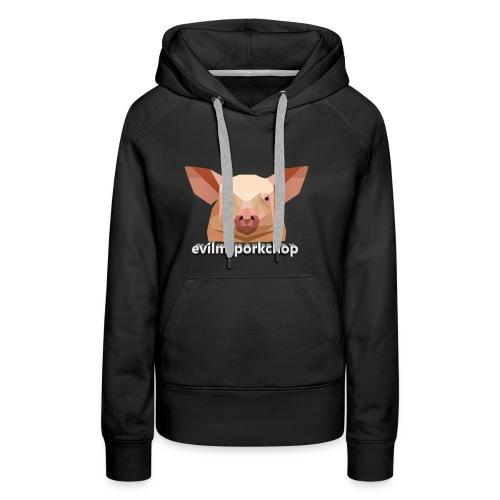 3D evilmrporkchop - Women's Premium Hoodie