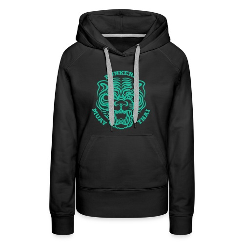 Tiger Print green - Women's Premium Hoodie