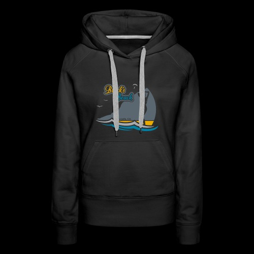 Blacks Beach Gold and Blue - Women's Premium Hoodie