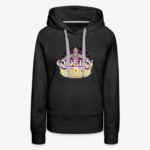 QUEEN AMONGST OTHER THINGS - PINK - Women's Premium Hoodie