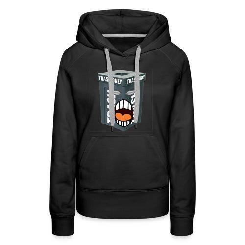 Trash Mouth Large Logo - Women's Premium Hoodie