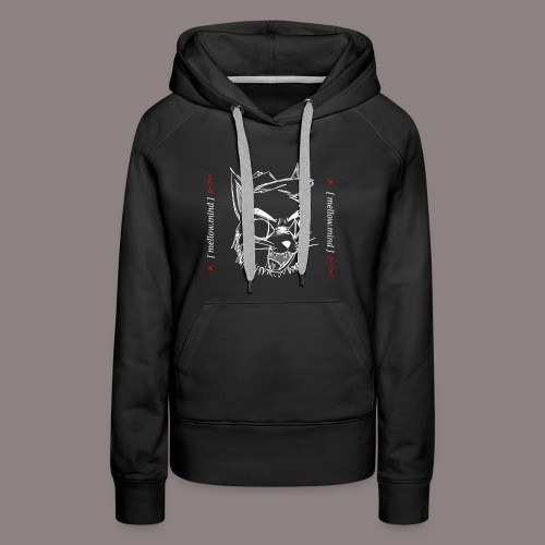 Mellow Mind (White on Black) - Women's Premium Hoodie