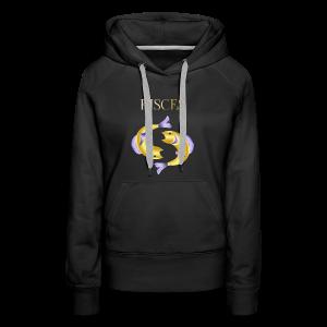 Pisces (Purple and Gold) - Women's Premium Hoodie