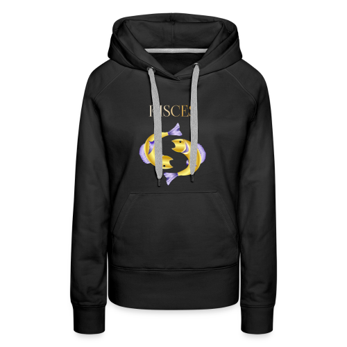 Pisces (Purple and Gold) - Women's Premium Hoodie