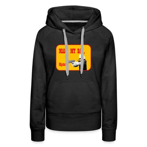Make my day, Hipster Yellow/Red - Women's Premium Hoodie