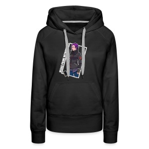 Vegas Prime Retrograde - Clara with White Border - Women's Premium Hoodie