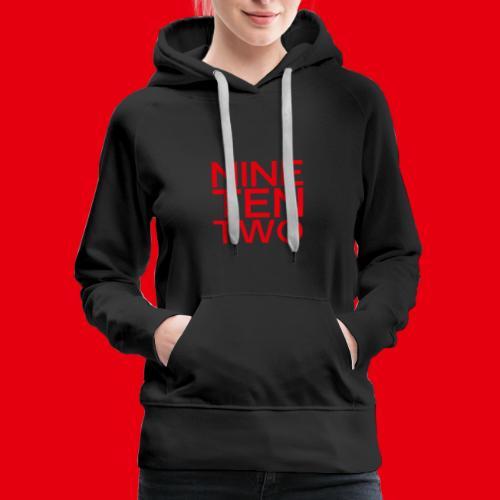 Red NineTenTwo Logo Text - Women's Premium Hoodie