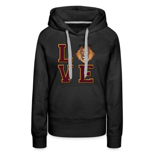 Lion Love Maroon Box - Women's Premium Hoodie