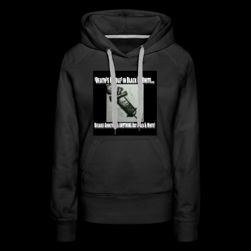 Death's Needle in B&W - Women's Premium Hoodie