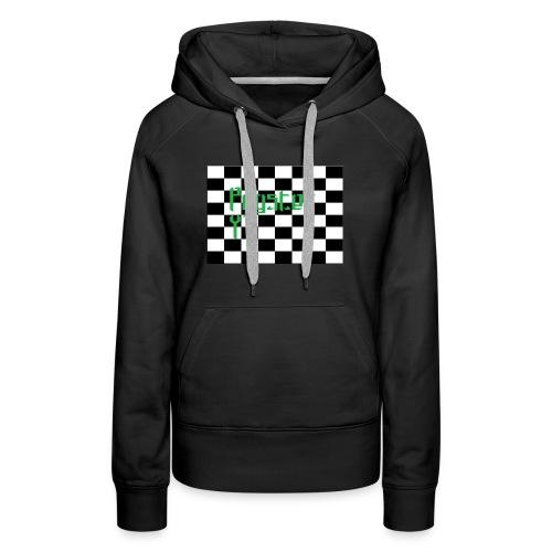 Checkers Pug - Women's Premium Hoodie