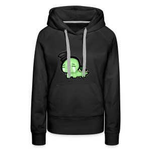 sad turtle in a top hat - Women's Premium Hoodie