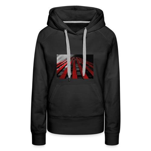 red, black & white - Women's Premium Hoodie