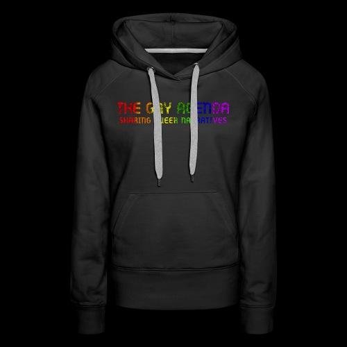 The Gay Agenda - Rainbow Paint Logo - Women's Premium Hoodie