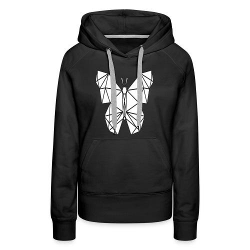 Butterfly Line Art - Women's Premium Hoodie