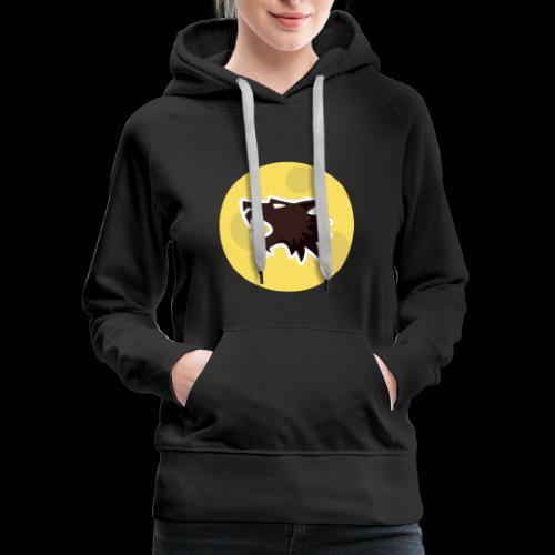 Werewolf Online Moonlight design - Women's Premium Hoodie