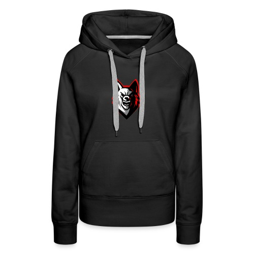 clean wolf logo by akther brothers no watermark - Women's Premium Hoodie