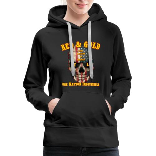 Red and Gold Indivisible tee - Women's Premium Hoodie