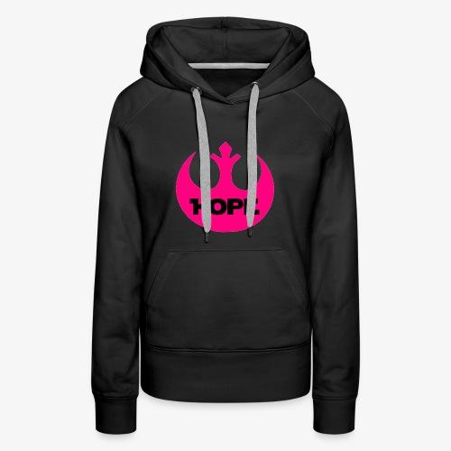 Hope- Pink Rebel - Women's Premium Hoodie