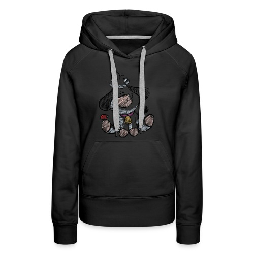 cow funny love animals and pets - Women's Premium Hoodie