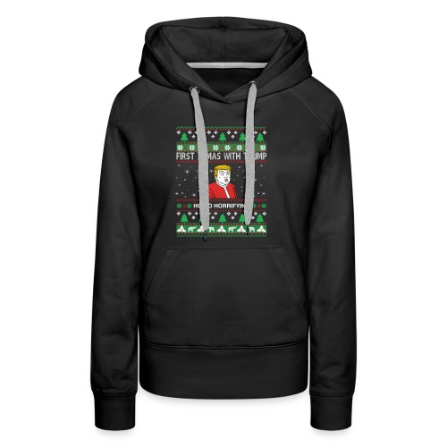 Ho Ho Horrifying ugly Christmas sweater - Women's Premium Hoodie