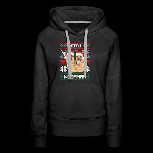 Merry Woofmas German Shepherd Couple - Women's Premium Hoodie
