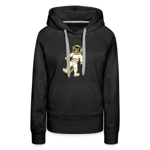 Outer-Space Astronaut Kitty - Women's Premium Hoodie