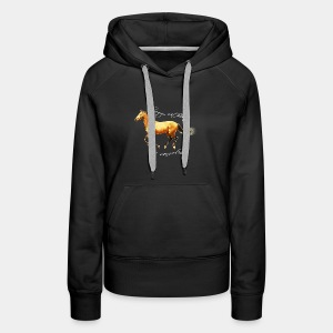 Never live without horse lover art polygon - Women's Premium Hoodie