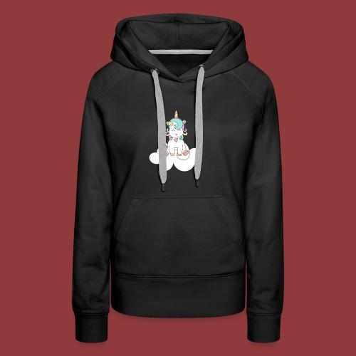 Happy Unicorn on Cloud 9 - Women's Premium Hoodie