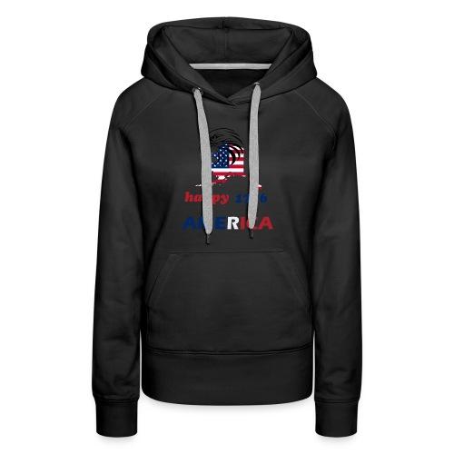 happy america 4th of july 1776 - Women's Premium Hoodie