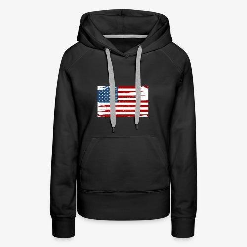 Bandera del Día de la Independencia de los Estados - Women's Premium Hoodie