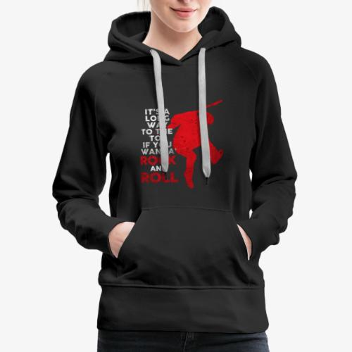 rock and roll - Women's Premium Hoodie