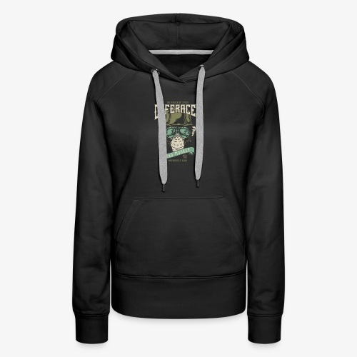 Mad Monkey Caferacer. Whacky motorcycle fan shirt - Women's Premium Hoodie