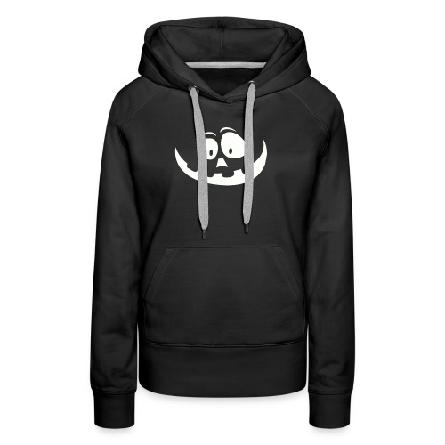 carved pumpkin white - Women's Premium Hoodie