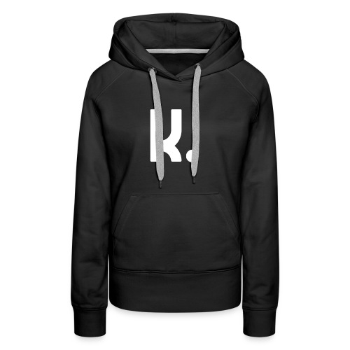 K Dot Period Simple Letter K Design English - Women's Premium Hoodie