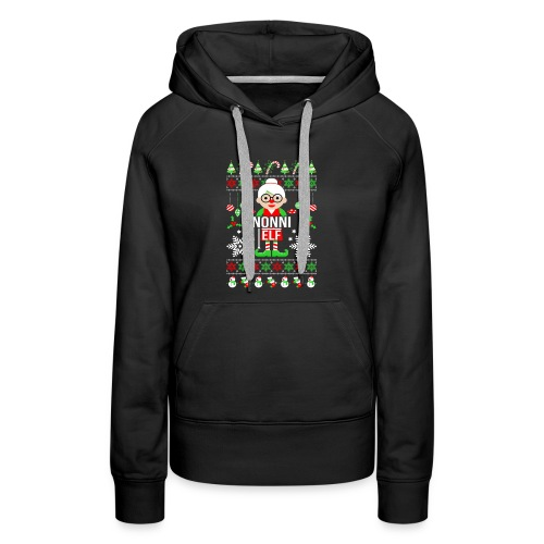 Nonni ELF Christmas Family Matching T Shirt - Women's Premium Hoodie