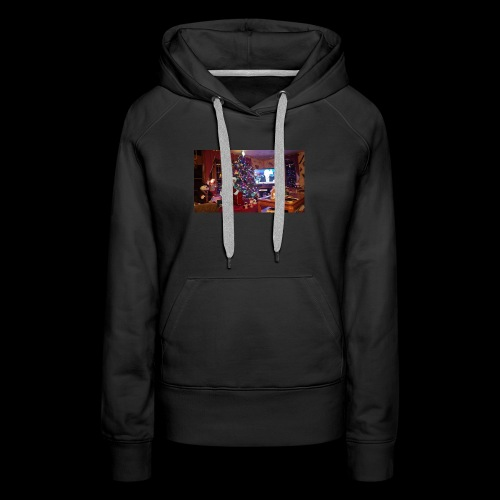 The 100% Real Santa Claws went to my grandmas home - Women's Premium Hoodie
