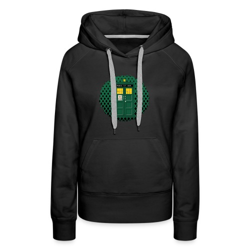 Green Phone box art - Women's Premium Hoodie