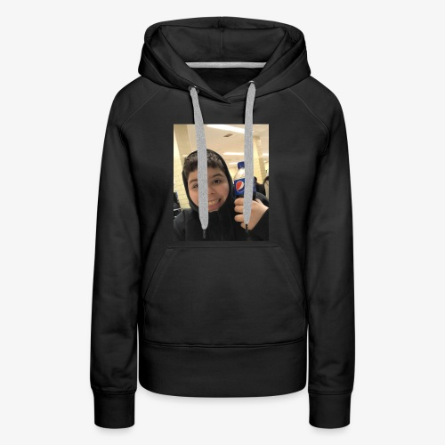 Sotiri with Pepsi Bottle smiling - Women's Premium Hoodie