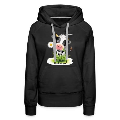 Live & Let Live Cow - Women's Premium Hoodie