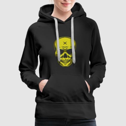 Evil Halloween Skull Skull Cross Gift - Women's Premium Hoodie