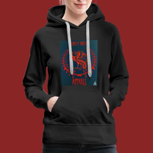 Flaming Red Dragon - Women's Premium Hoodie