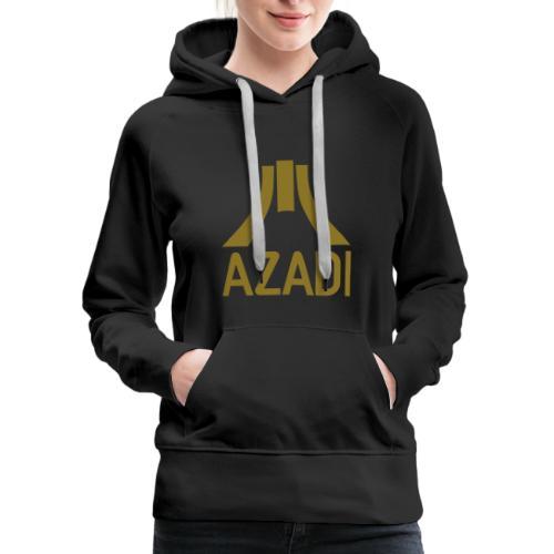 Azadi retro stripes - Women's Premium Hoodie