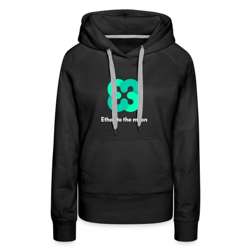 ETHOS - BITQUENCE - To The Moon Classic - White - Women's Premium Hoodie