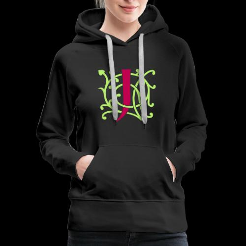 DIY FlexColor™ Monogram J • A4-2 – 2 Colors - Women's Premium Hoodie