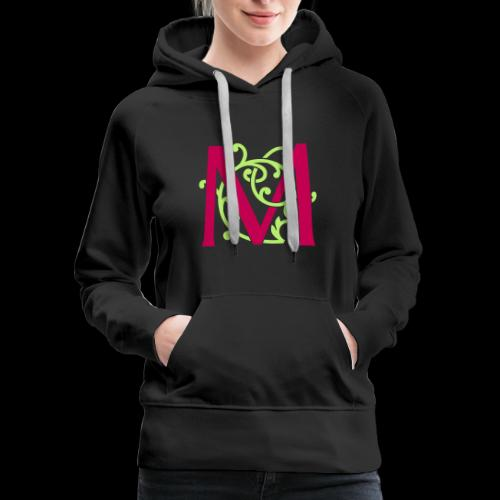 DIY FlexColor™ Monogram M • A4-2 – 2 Colors - Women's Premium Hoodie