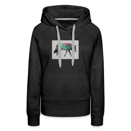 Double Exposure Of Animals - Women's Premium Hoodie