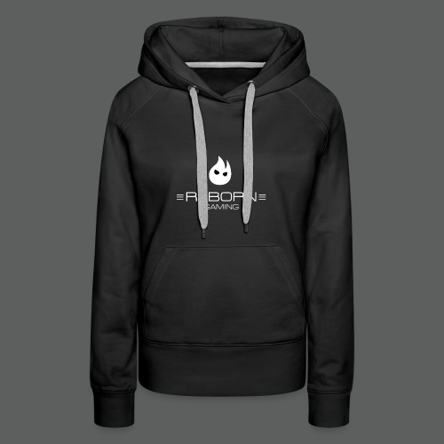 REBORN Gaming - Icon and Text on Dark - Women's Premium Hoodie