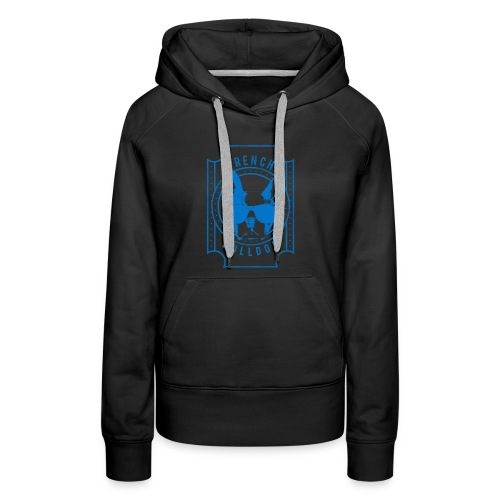French Bulldog Blue - Women's Premium Hoodie