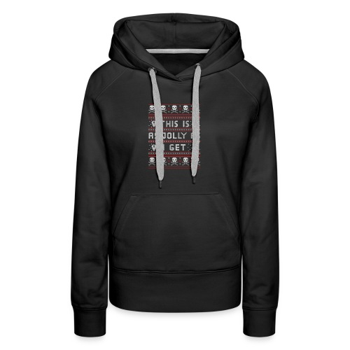 Emo Gothic Ugly Christmas Sweater Emo Gothic Go - Women's Premium Hoodie