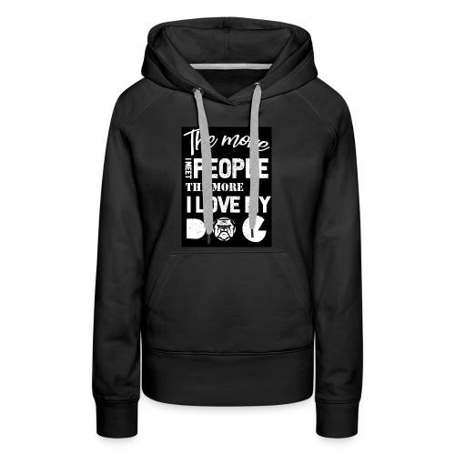 Dog owner T shirt - Women's Premium Hoodie